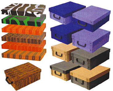 Cajas de carton decorativas transportes de paneles de madera - Cajas almacenaje decorativas ...